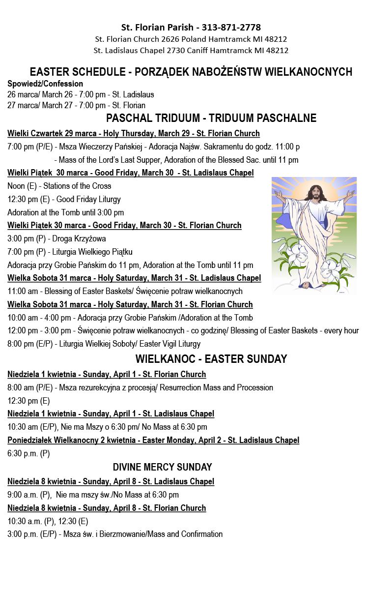 Porządek nabożeństw Wielkanocnych