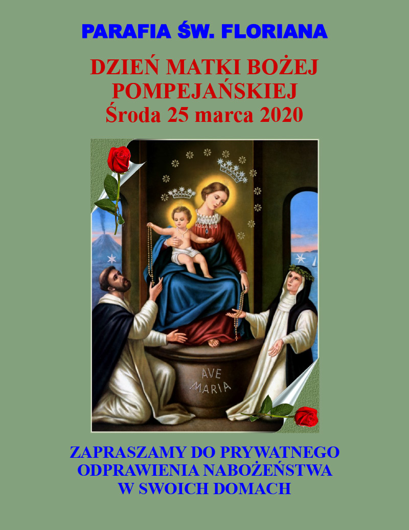 Our Lady of Pompeii/Dzień Matki Bożej Pompejańskiej