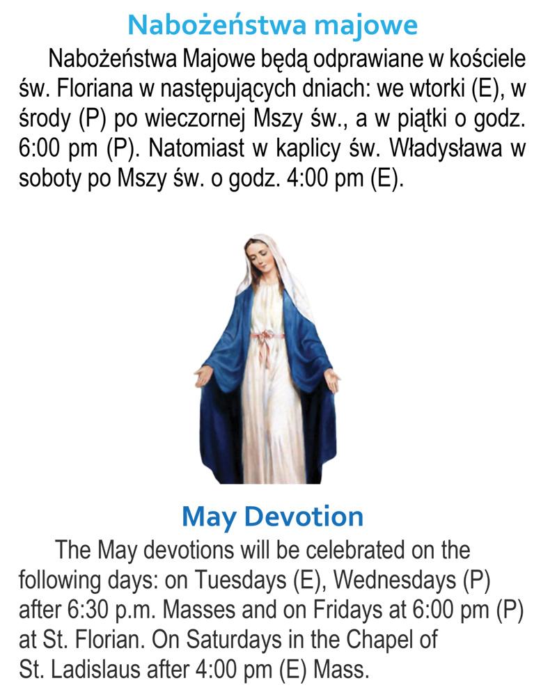 May Devotion/Nabożeństwa majowe
