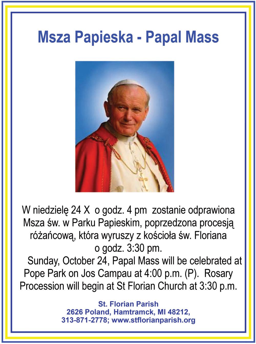 Papal Mass, Msza Papieska